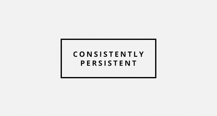 Consistently Persistent - Jake Hart Art